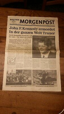 Berliner Morgenpost 23.Nov.1963  Kennedy ermordet - Orginal