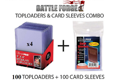 100 ULTRA PRO TOP LOADERS Plus 100 Ultra Pro card sleeves