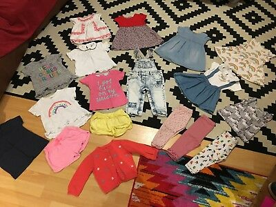 BIG 6-9-12 Month Baby Girl Summer Clothes Bundle - NEXT, Zara, Joules
