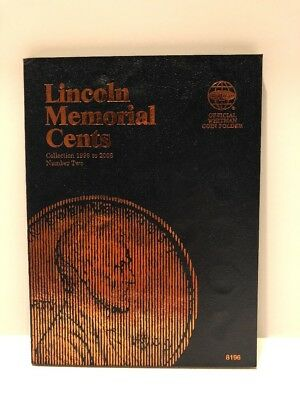 Whitman Lincoln Memorial Cents Collection 1999 to 2008 Number Two Coin Folder