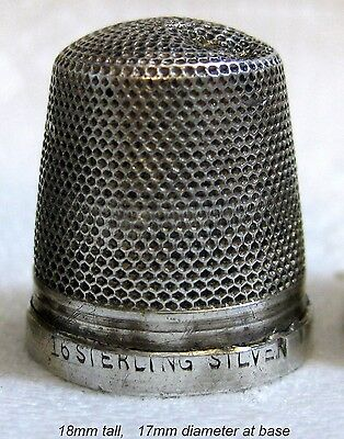 antique silver THIMBLE - Henry Griffiths, embroidery needlework, craft, British
