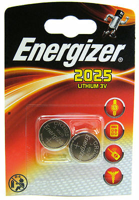 2 X Energizer CR2025 DL2025 SBT-14 3v Lithium Coin Cell Battery