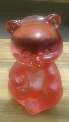 fenton art glass bear two tone pink must see