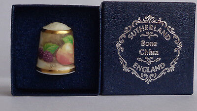 Lovely Boxed Thimble (Sutherland Hand Painted)