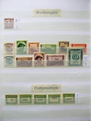 Westungarn Lot - West Hungaria small Lot of stamps