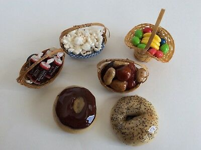 Lot Of Vintage Style Kitchen Magnets Cand Runts Toorsie Roll Nuts Donut & Bagel