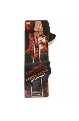 Freddy Glove Chopsticks a Nightmare on Elm Street Freddy Krueger Loot Crate