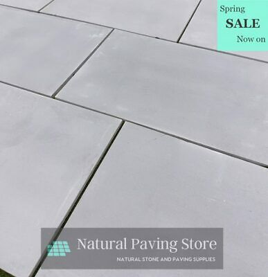 Sandstone Kandla Grey Sawn Honed Patio Indian natural Paving Slabs 900 x 600