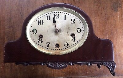 Old Wind Up Mantel Clock With Chimes Needs TLC