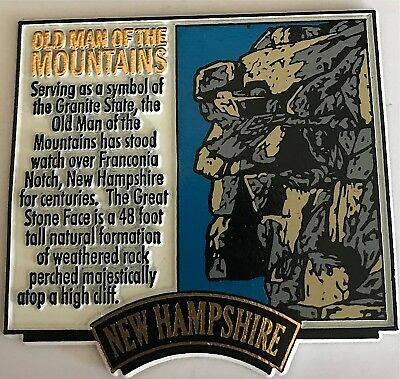 Old Man of The Mountain Square Magnet