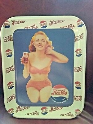 PEPSI COLA Gal in Swimsuit LITHOGRAPHED METAL TIN SERVING TRAY