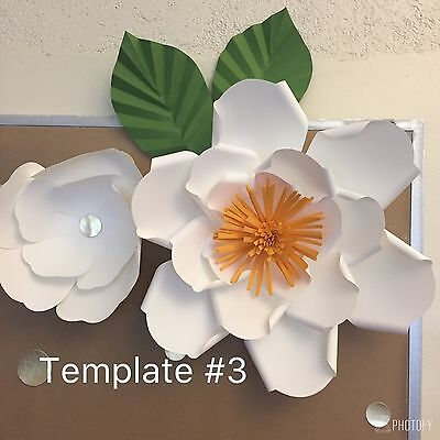 HARD COPY PAPER Flower Template 3 DIY Paper Flower Backdrops