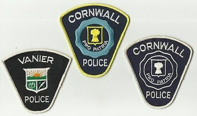 Cornwall (2) / Vanier (ONTARIO) Police Patches