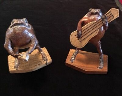 "Vintage Taxidermied Set of Frog Musicians 5.5"" H"
