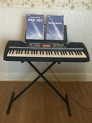 yamaha psr 282 keyboard with stand music holder original manual rh picclick co uk Yamaha PSR 270 Yamaha Keyboards PSR