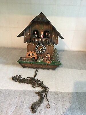 Vintage Musical Mechanical Cuckoo Clock - For Restoration - Spares Repair -as is