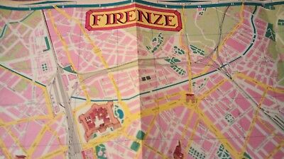 Firenze Florence Italy Italian Travel Vintage Illustrated Cartograph Map 26x19""