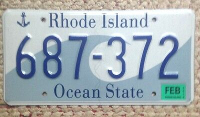 2014 Rhode Island Graphic Wave & Anchor  Ocean State License Plate R.i. Auto Tag