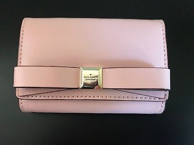 Kate Spade Darla Montford Park Small Wallet Pink Leather Keychain NWT