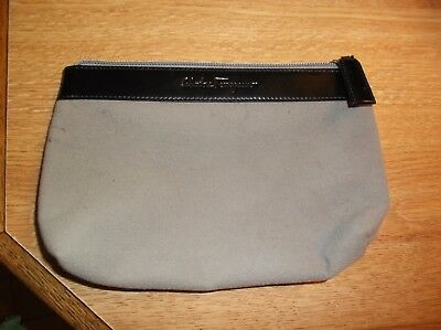 Salvatore Ferragamo Velvety Cosmetic Makeup Bag Pouch wallet AU-22 9580 ITALY
