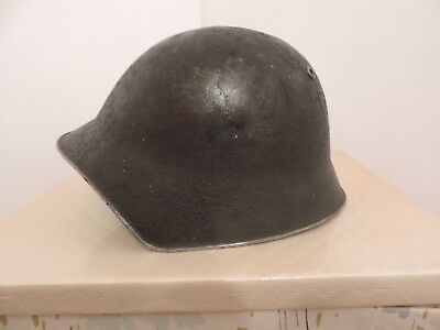 World War 2 Swiss M1918 40 Military Army Helmet with Liner & Chin Strap