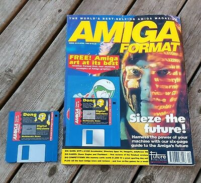 Amiga Format Issue 45 (April 1993) with cover disk