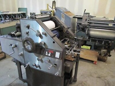AB Dick 9850 printing press with T head