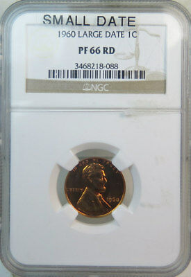 1960 Lincoln cent NGC MS66RED *small date* BR
