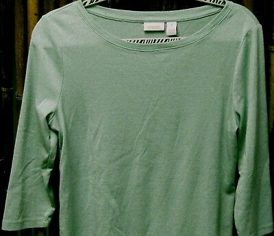 CHICO'S---shimmer top---size 1 (8)