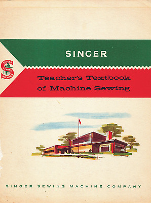 Vtg 1960 SINGER SEWING MACHINE TEACHER TEXTBOOK Attachments Parts LESSONS *on CD