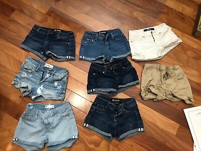 Girls shorts Jeans LOT 7 , 8 , 10 Abercrombie Hollister Tillys
