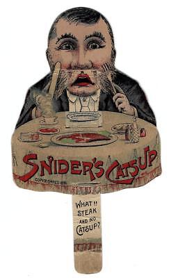 Snider's Catsup 1891 Mechanical Pull-Tab Victorian Trade Card