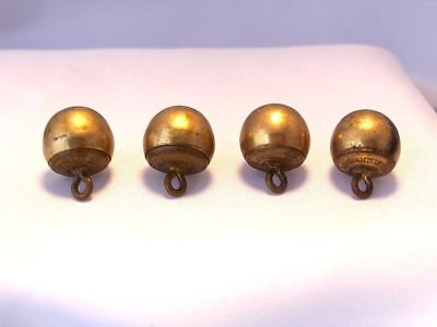 Vintage H.V. Allien & Co New York Brass Ball Button Very Nice Condition 4 Pcs