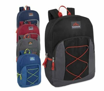 Trailmaker Classic 17 Inch Solid Grey Backpacks Knapsacks Lot of 24 Wholesale