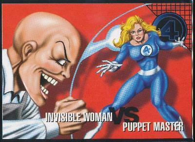 1996 Marvel Vision Trading Card #75 Invisible Woman vs. Puppet Master