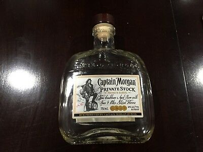 Captain Morgan PRIVATE STOCK Rum Glass Bottle 750ML Empty FREE PRIORITY SHIPPING