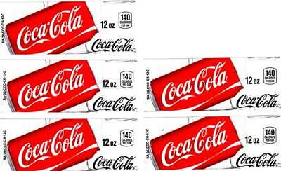 Coca-Cola Can Labels 5 Small 12 oz Coke Vending Machine Calories Soda Labels