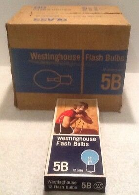Vintage Westinghouse New Old Stock 1 CASE 144 BLUBS #5B Blue flashbulbs