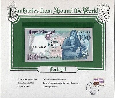 1981 PORTUGAL 100 ESC PICK 178b UNC BANKNOTES FROM AROUND THE WORLD (2 NOTES)