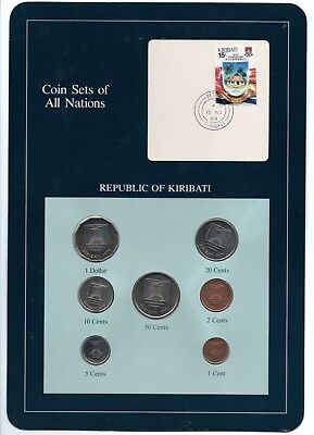 1979 KIRIBATI COIN SETS OF ALL NATIONS (7 COINS)  some problems