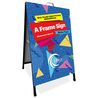A Frame Sign (Sandwich Board) With Double Side Printing 600X900mm Metal Face
