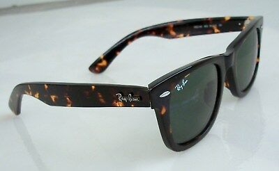 158d21af8a00b AUTHENTIC RAY BAN Black Clear Wayfarer Sunglasses RB2143 919 32 with ...