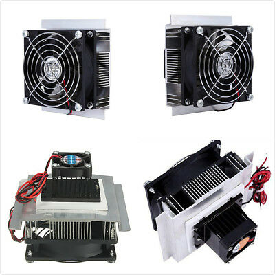 12V 6A Thermoelectric Peltier Refrigeration Cooling Fan System Heatsink Kit DIY