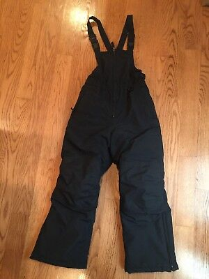 Lands End Squall Navy Snow Pants/Bibs Size Youth 10 Grow-a-longs.