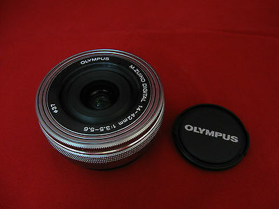 Olympus M.Zuiko 14-42mm f/3.5-5.6 EZ (Silver) Lens for Micro Four Thirds 3/4