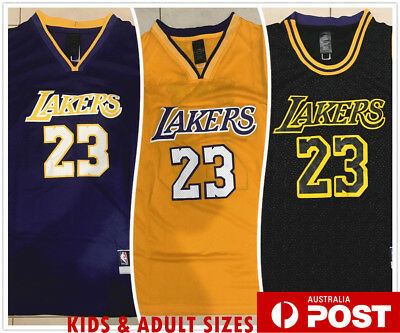 """THE KING"" LeBron James #23 LBJ Los Angeles Lakers LA NBA Jersey AU STOCK"