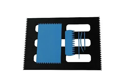 Weaving Loom Board Set, BLUE 95 x 160mm & BLACK A4 Size, Comb & Needles. S7801