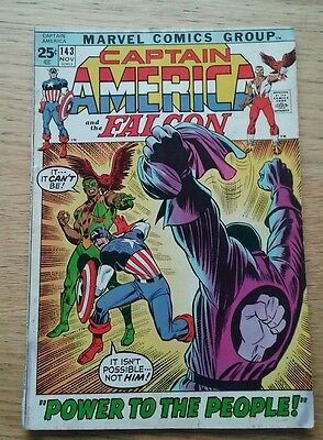 Marvel Comics Group. Captain America. Power To The People.Issue 143. 1971.