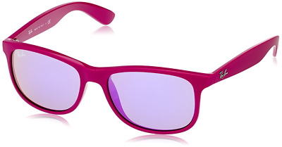 a365b180668 Authentic RAY-BAN Andy 4202 - 60714V Sunglasses Violet  Violet Mirror  NEW