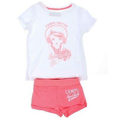 Ensemble Tee-shirt et Short Rose fluo Fille Camps